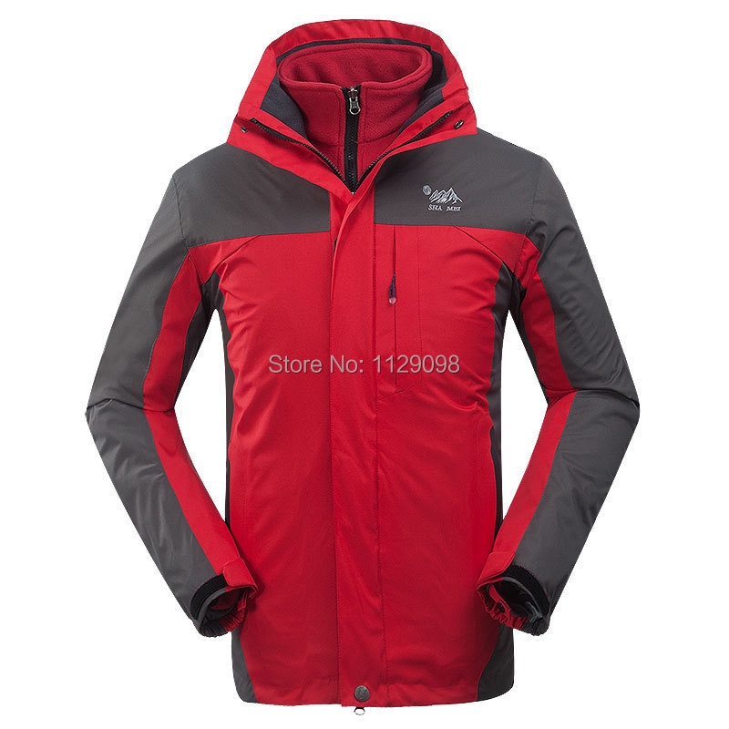 Mens Name Brand Waterproof Jacket Outdoor Clothes Orange Winter ...