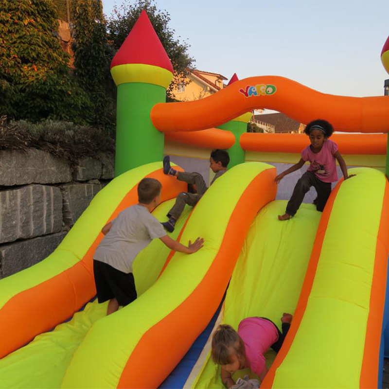Giant Inflatable Game Trampoline Park Bounce House Double Slide Inflatable font b Bouncer b font Jumping