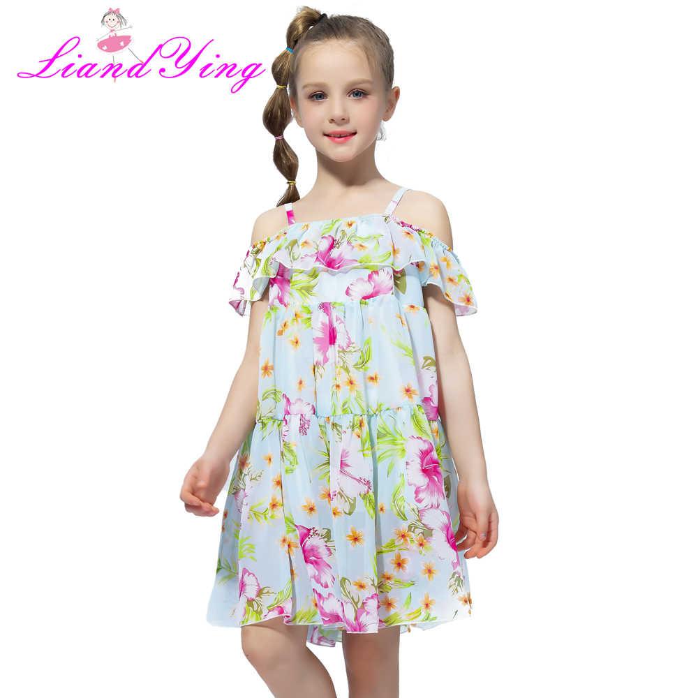 0d84272be5f 2018 Повседневное девочек Пляжное платье для девочек в богемном стиле  летнее платье для девочек-подростков