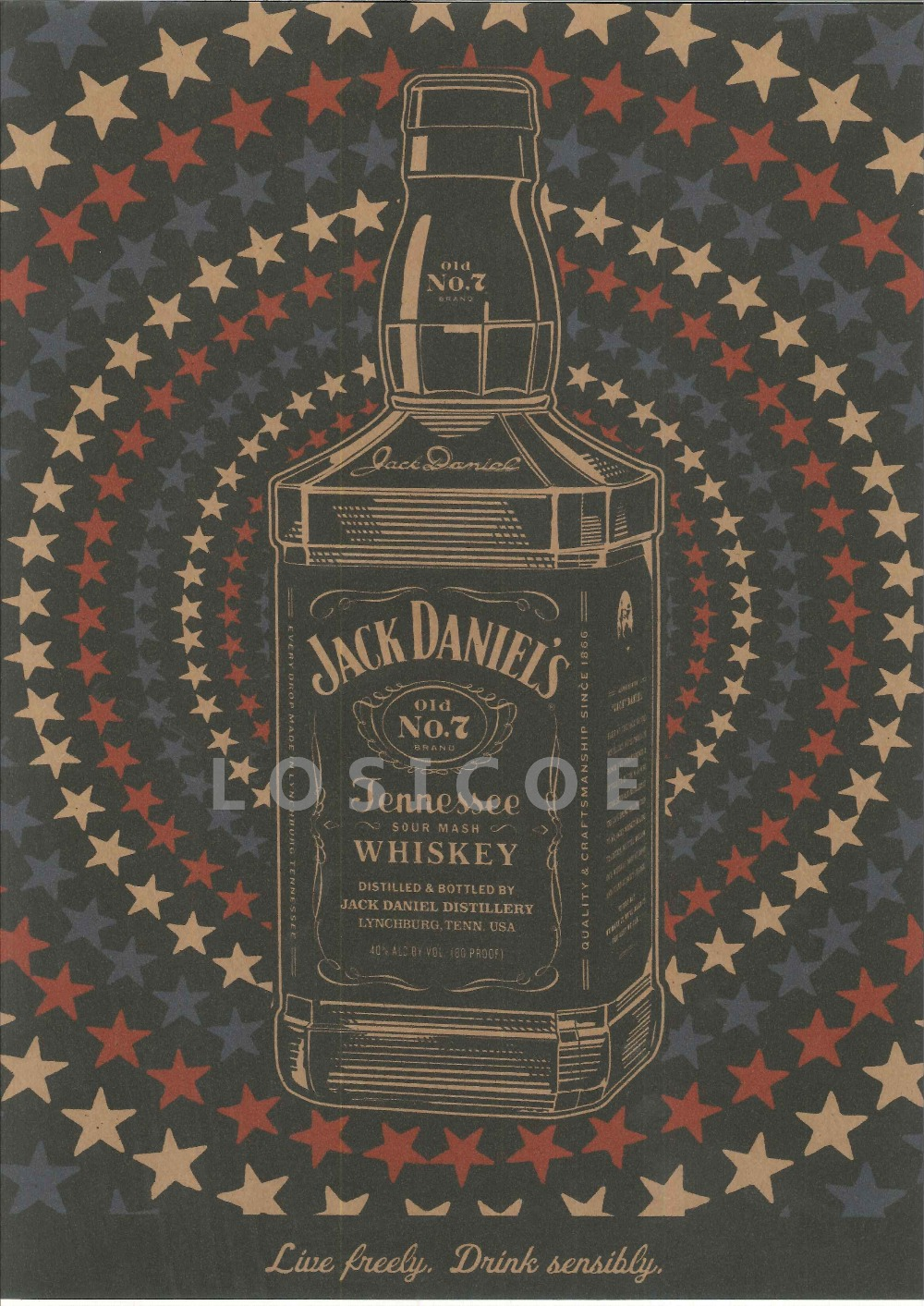 High definition retro jack daniels tattoos patterned posters high definition retro jack daniels tattoos patterned posters kraft paper interior painting restoring wall sticker home decor in painting calligraphy from amipublicfo Gallery