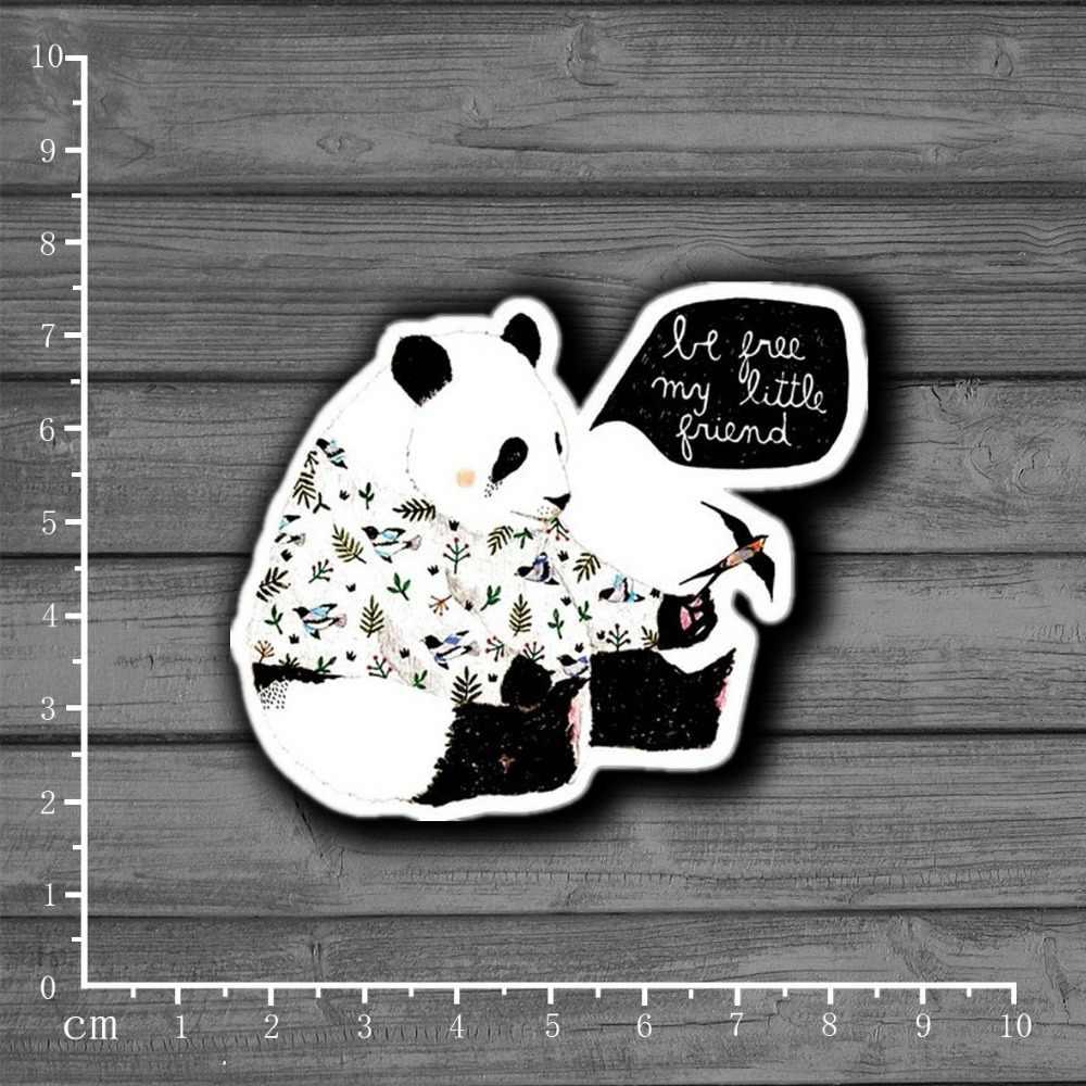 Sweater de Panda Swallow papelería Graffiti maleta niños juguete pegatina Decoración Para Ablum Scrapbooking portátil pegatina [Individual]