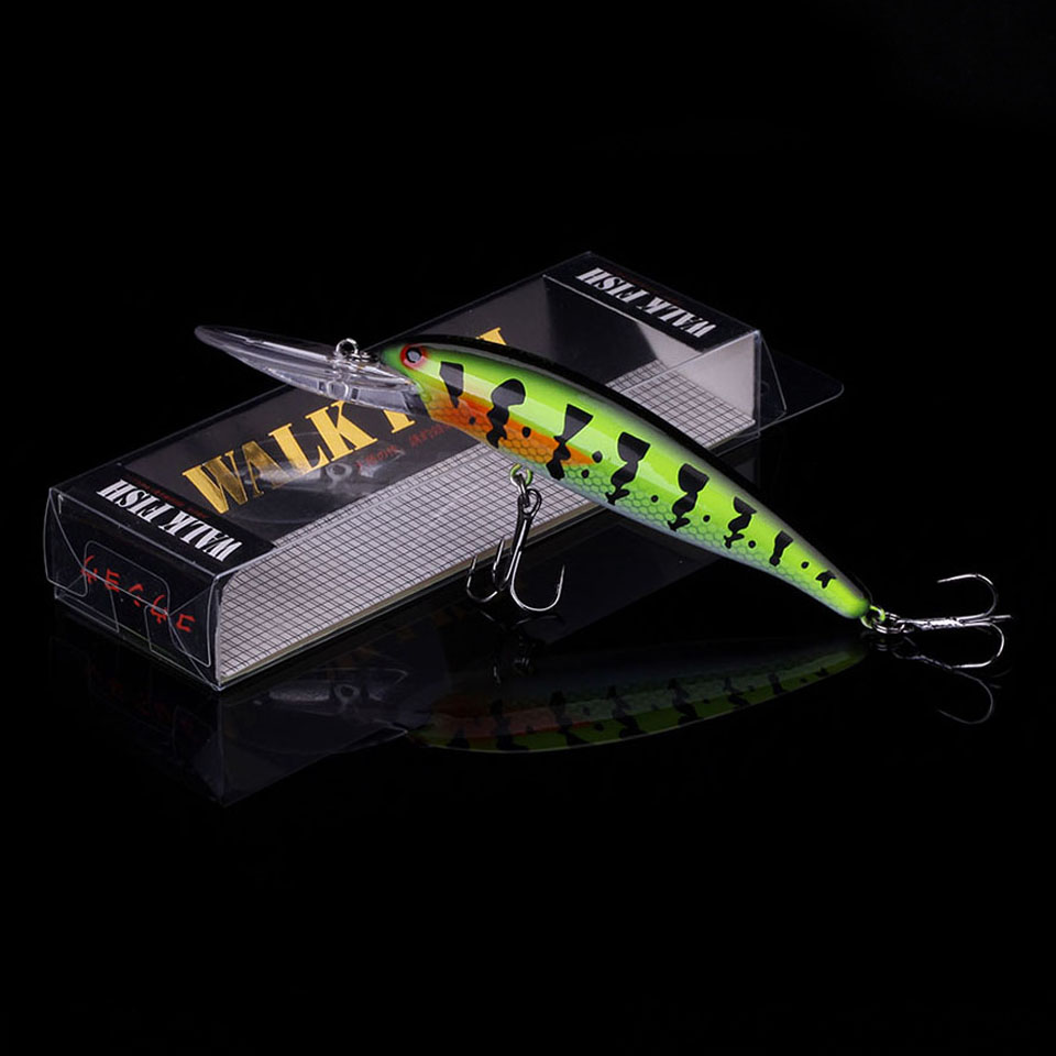 WALK FISH Hot Wobbler Fishing Lure 115mm 11.6g Plastic Minnow Bass Pike Artificial Hard Bait Fishing Tackle Pesca Diving 3-4M 800pcs suspend fishing lures 90mm 7g 2 5m dive artificial bait plastic shad minnow 3d eyes wobbler bass lure fishing tackle