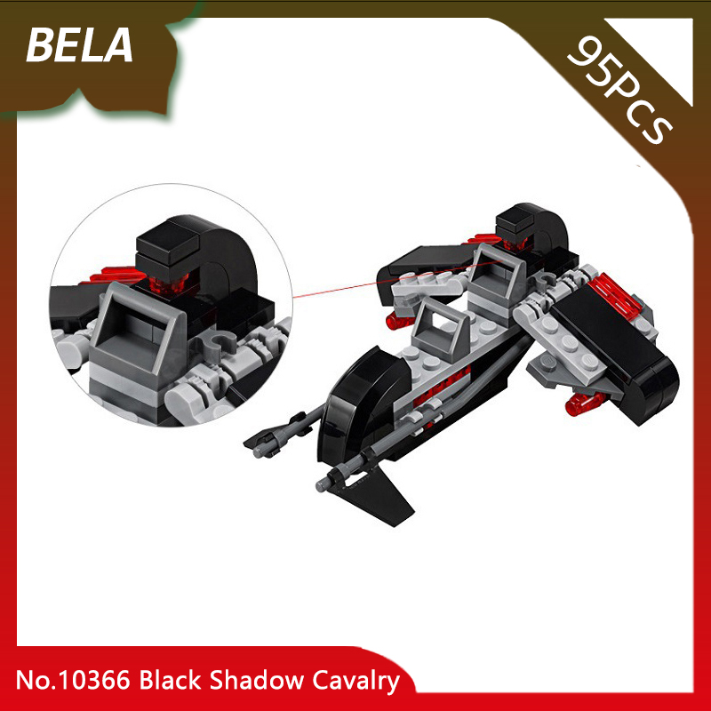 Bela 10366 95pcs Star Series Wars Black Shadow Cavalry Model Building Blocks Small Toys For Kids Birthday Gifts Compatible 75087