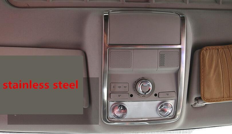 Car Styling Reading Lamp Cover Reading Light Cover Sticker For Volkswagen Sagitar Jetta MK6 2012 2013 2014 Stainless Steel 1pc