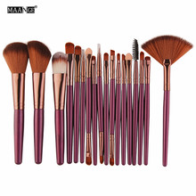 MAANGE 15/18 Pcs Professional Makeup Brushes Set Comestic Powder Foundation Blush Eyeshadow Eyeliner Lip Make up Brush Tools professional slim 5pcs makup brushes set powder blush eyeshadow eyeliner face eyes brush make up cosmetics tools with box