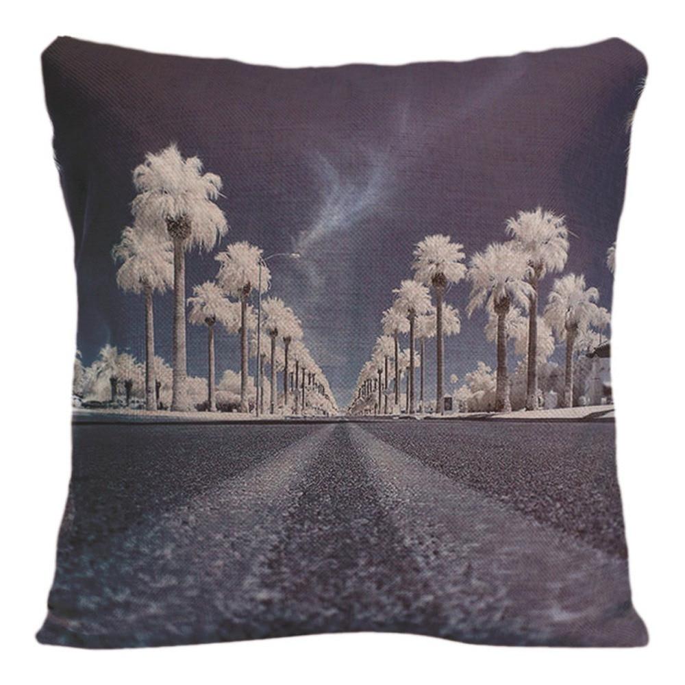 Naturlig landskap Kuddeöverdrag Dekorativa kuddar för soffa - Hemtextil - Foto 4