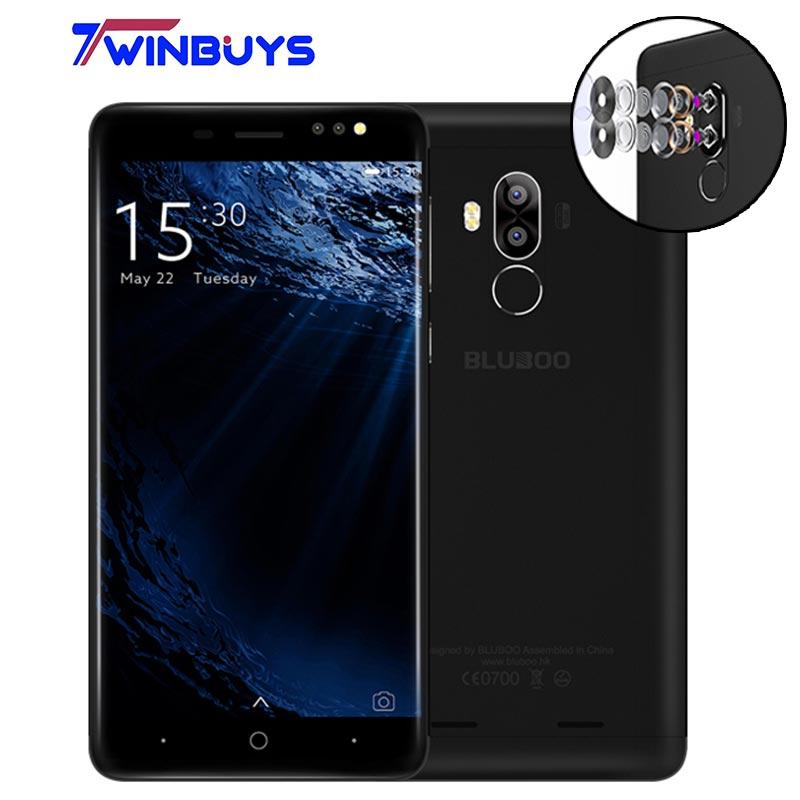 Original Bluboo D1 MTK6580A Android 7.0 Quad-core 1.3GHz Dual Rear Camera 5.0 Inch cellphone 2GB RAM+16GB ROM 2600mAh Smartphone