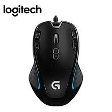 Logitech G300s raton souris de jeu 2500 DPI USB filaire capteur optique à deux mains mause avec 7 couleurs rétro-éclairé pour Dota 2 Gamer souris