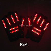 Laser Payday Spooky Skeleton Gloves Led String Dazzling Glow In Dark Ghost Party Golves Holiday Lights