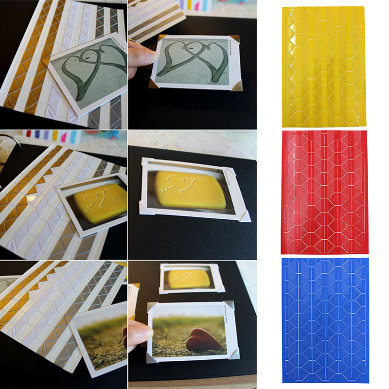 24X Self-adhesive Photo Corner Stickers scrapbook album essential DIY`sticker BR