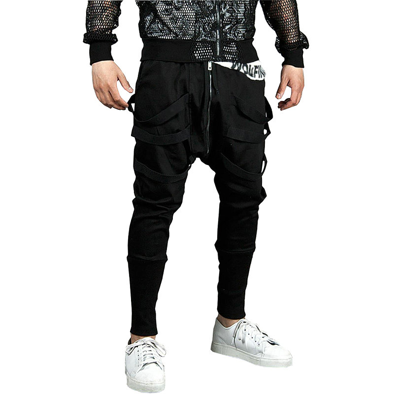 Spirio Men Casual Colorblock Track Trouser Patchwork Slim Fit Jogger Chino Long Pants