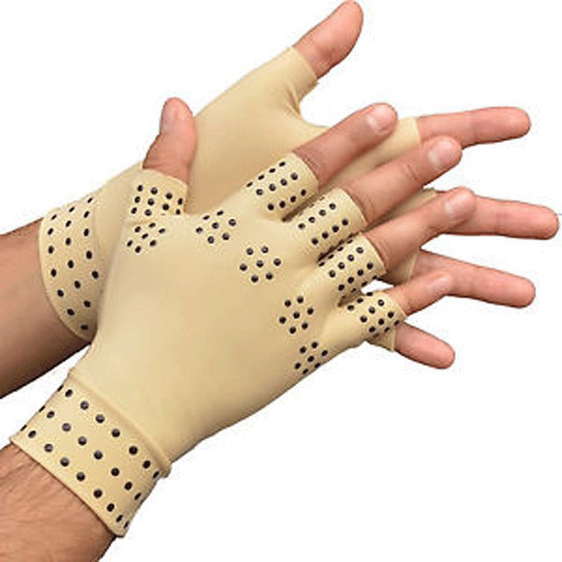 1 Pair Arthritis Therapy Gloves Relief Pressure Pain Heal Joints Magnetic Therapy Gloves Support Hand Massager Toiletry Kits