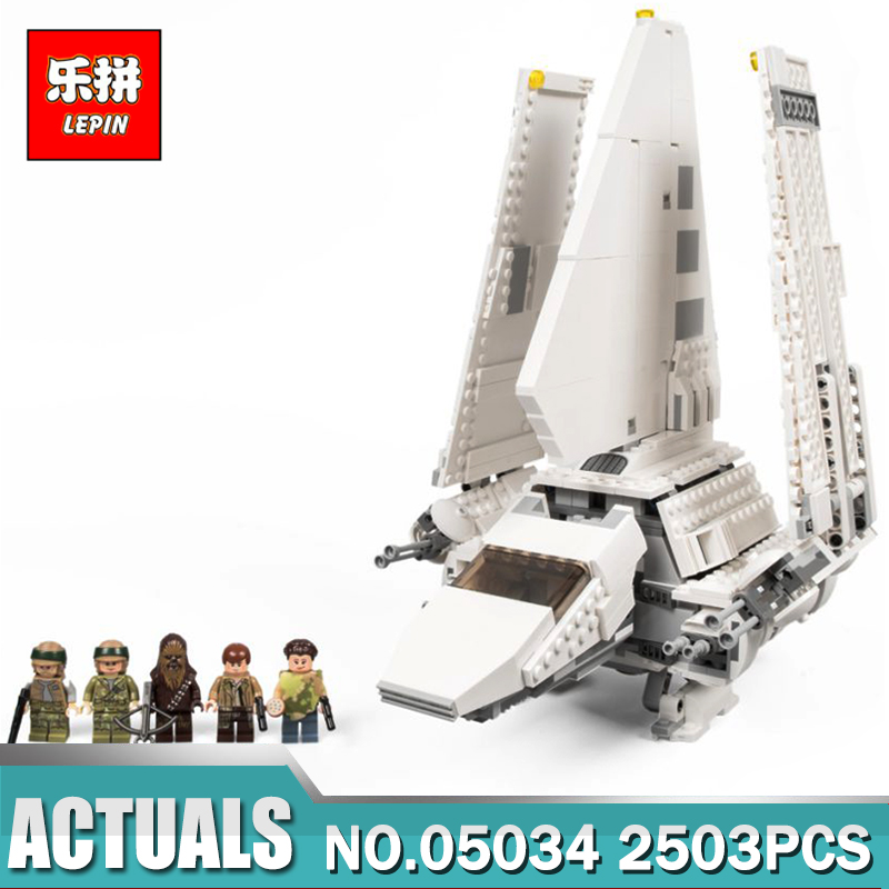 New LEPIN 05034 2503Pcs Star Toy War The Shuttle Model Building Kit Blocks Bricks Children Gifts Compatible with 10212 new lepin 05034 2503pcs imperial shuttle model building kit blocks bricks compatible children toy gift with 10212