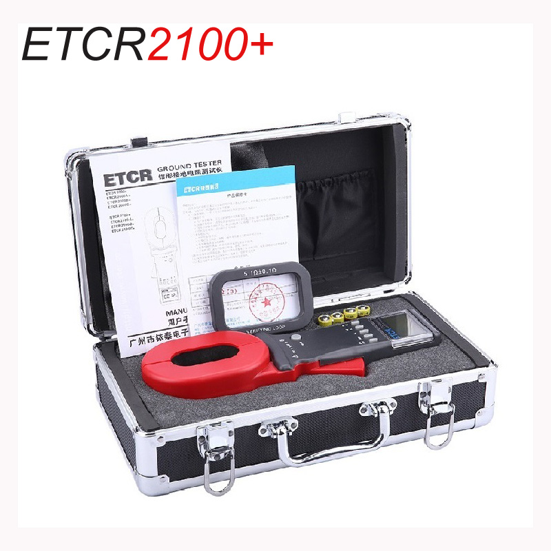 NEWEST ETCR2100 0 01 1200ohm 32 32MM 99Sets Stored Data Clamp On Digital Ground Resistance Tester