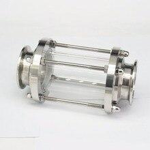 2 «51 mmTri зажим Клевер потока прицел стекло диоптрий для самогон дневник продукт 304 нержавеющая сталь санитарно фитинговая муфта OD 64 мм
