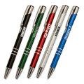 1000 pièces/ensemble personnalisé publicité personnalisé pas cher stylo à bille en métal promotionnel en aluminium stylo avec 1 couleur Logo