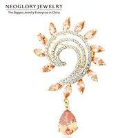 Pre Sale Neoglory New 2014 Rhinestone Brooches Pins For Wedding Invitations Bridal Zircon Broach Costume Jewelry