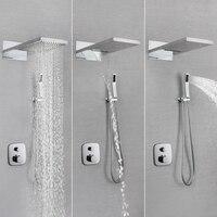SKOWLL 22 термостатический набор дождь Насадки для душа воды клапан ванна для душа SK 7626