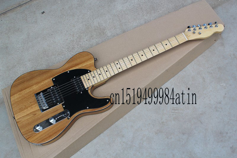 Free shipping new TELE ash wood solid body Guitars Telecaster OEM Electric Guitar in stock @13 free shipping new t l electric guitar alder body f 3134