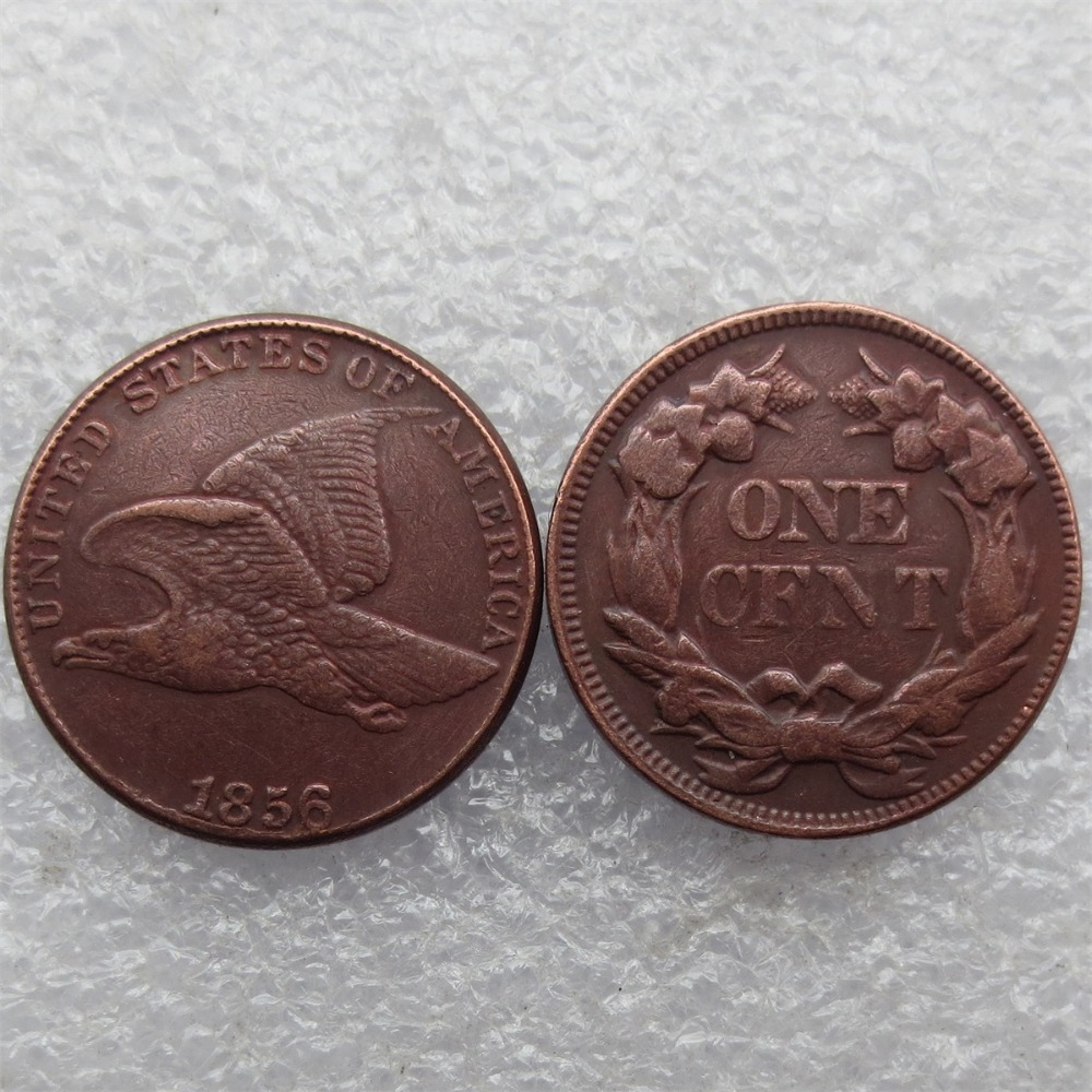 1856 Flying Eagle Cents Copper Manufacture copy coins do old free shipping