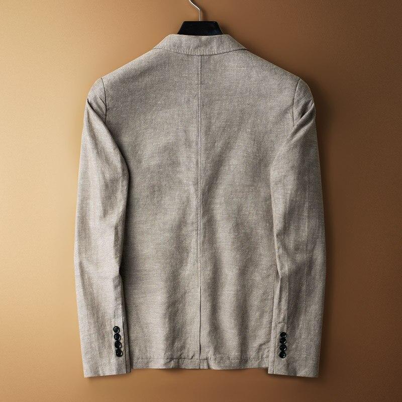 Taille Unique Qualité M Plus b Automne Arrivla Manteaux Lin 2xl3xl4xl Coton Nouveau Jeunesse A Haute Et Mode Casual Poitrine Mince Hommes Costumes TAwZ7qS