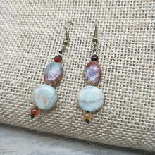 Youga New fashion retro beaded earrings shaped natural stone beads handmade jewelry for women