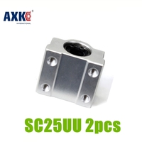 Axk 2pcs Sc25uu Scs25uu 25mm Linear Ball Bearing Block Cnc Router Cnc Parts 2pcs Sc25uu