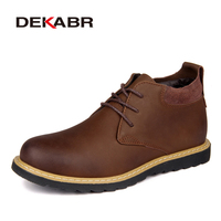 DEKABR Hot Sale Men Boots High Quality Handmade Waterproof Footwear Winter Working Boots New Men Comfortable