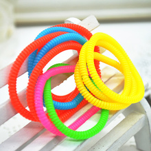 10Pcs/Set Telephone Line Elasticity Rubber Hair Band Tie Hair Accessory Fashion Women Headwears Drop Shipping F60SS0243W#M1