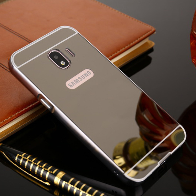 official photos f0c2d 1abe6 US $3.7 20% OFF|For Coque Samsung J2 2018 Case Aluminum Metal Frame Bumper  Acrylic Back Mirror Case For Samsung Galaxy J2 Case J250F 2018 Cover-in ...