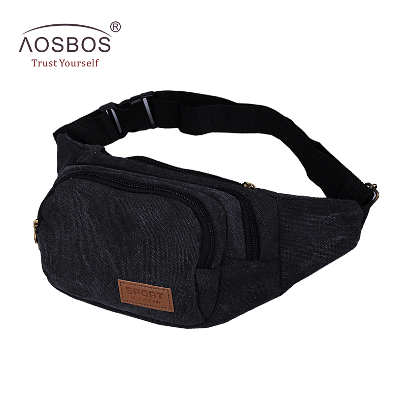 Men Vintage Canvas Waist Pack Fashion Durable Money Belt Bags Women Solid Leisure Leg Bag Pouch