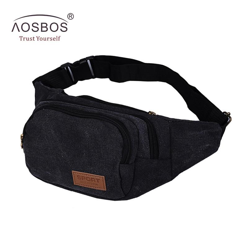 Men Vintage Canvas Waist Pack Fashion Durable Money Belt Bags Women Solid Leisure Leg Bag Pouch
