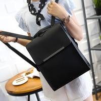 PU leather Korean version of the large capacity of high school students tide women Japan simple shoulder bag travel backpack