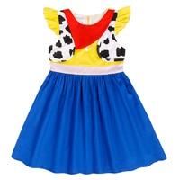 AmzBarley Toddler girls Jessie Dress story Cow Girl Birthday Party halloween costume infant girls cotton tutu dresses clothes