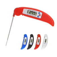 BBQ Foldable Thermometer 50 300degree Celsius Barbecue Digital C F LCD Display Cooking Food Probe Meat