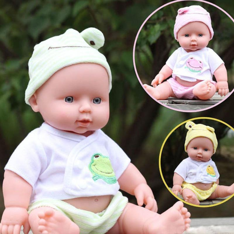 Baby Reborn Dolls Reborn Handmade Doll Soft Vinyl Silicone Lifelike Sound Laugh Cry Newborn Baby Toy for Children Birthday Gift