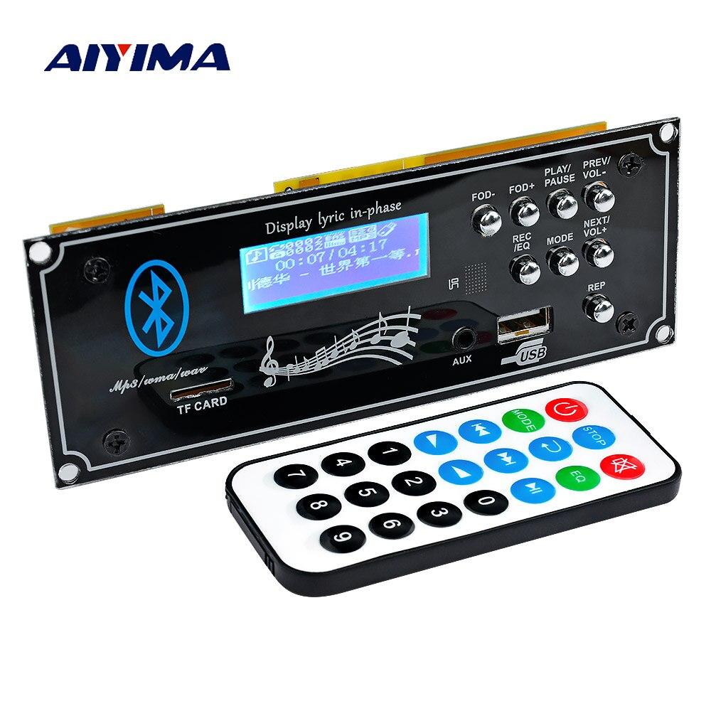 AIYIMA 2,1 Bluetooth Автомобильный декодер плата MP3 плеер декодирующий модуль с USB Aux DIY для усилителей доска домашний кинотеатр