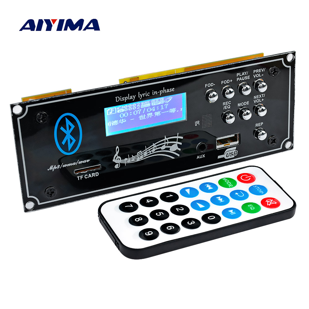 AIYIMA 2.1 Bluetooth Car Decoder Board MP3 Player Decoding Module With USB Aux DIY For Amplifiers Board Home Theater image