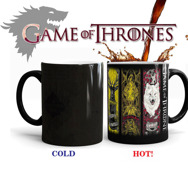 Game of Thrones Tribal Totem Mug Mark Color Changing Cup Sensitive Ceramic Tea La Copa Friends