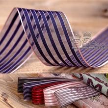 100yards 25mm 40mm satin stripes organza sheer ribbon for wedding party supplies hair bow accessories diy craft