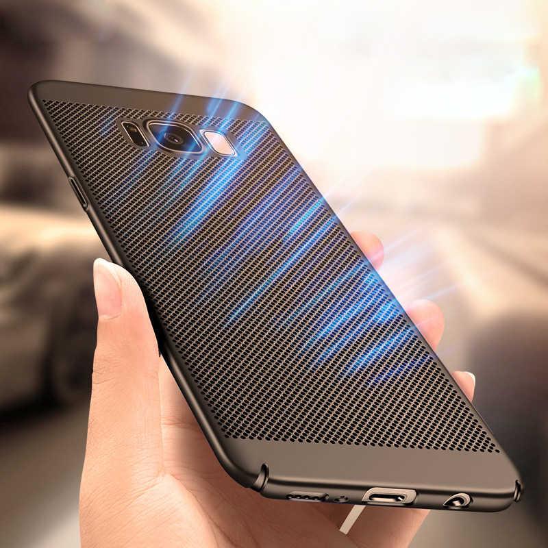 สำหรับ Samsung Galaxy S10 PLUS S8 S9 PLUS S6 S7 EDGE S10e S10 PLUS Slim การกระจายความร้อน Breathable Cooling กรณี PC Hard SHELL