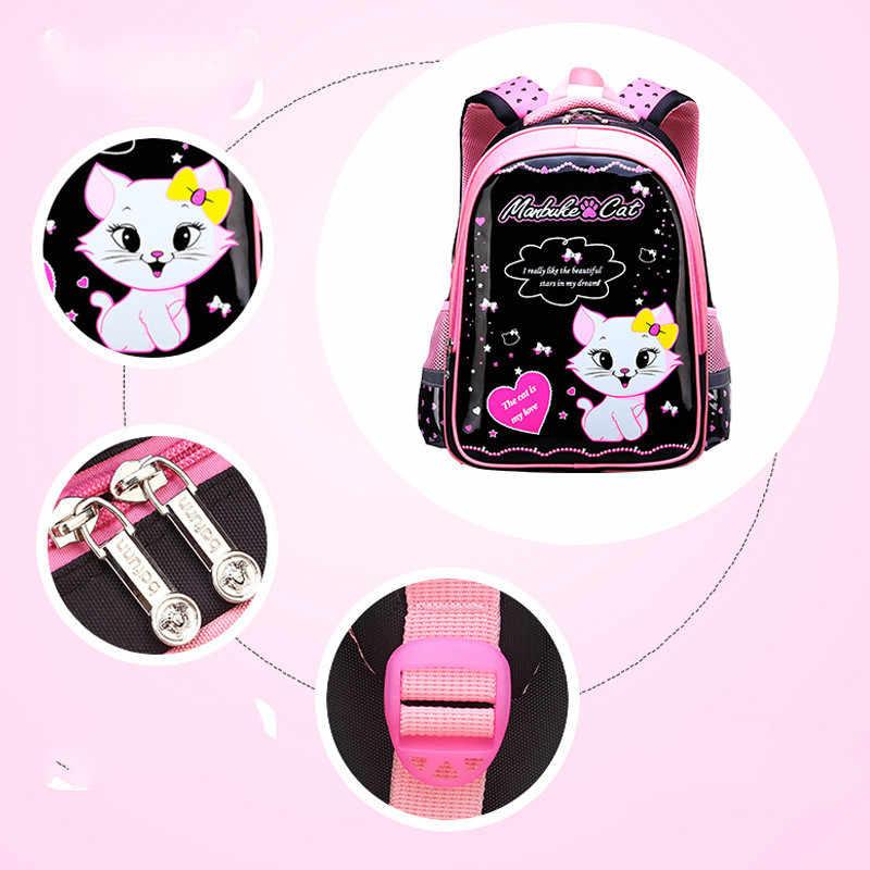 Водонепроницаемые детские школьные сумки для девочек, школьный рюкзак для начальной школы с мультяшным котом, детский школьный рюкзак, школьный рюкзак, набор Mochila Infantil