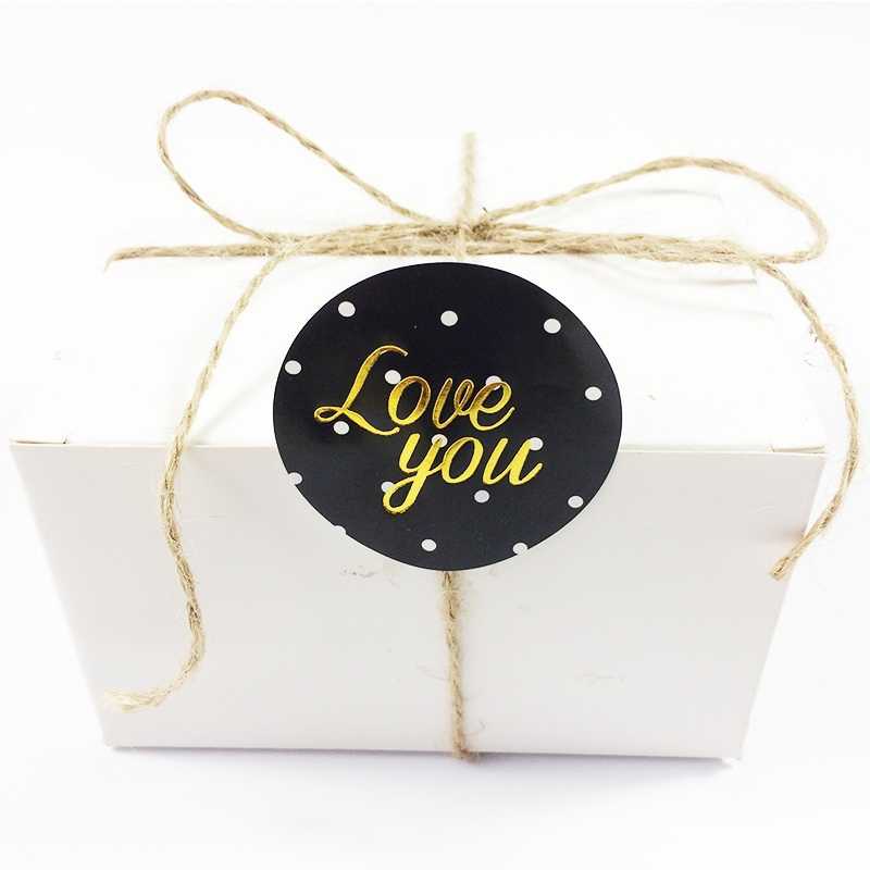 60 Pcs/lot Round greeting words Thank you Stickers DIY For you Stickers Love you Gift Food Paper Seal Scrapbooking Labels