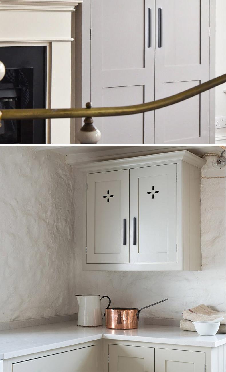 AOBT Door Long 600mm Black Handle Modern Minimalist Kitchen Cabinet Drawer