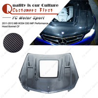 Car Accessories Carbon Fiber iMP Performance Style Hood with Glass Fit For 2011 2013 MB W204 C63 Hood Bonnet Cover