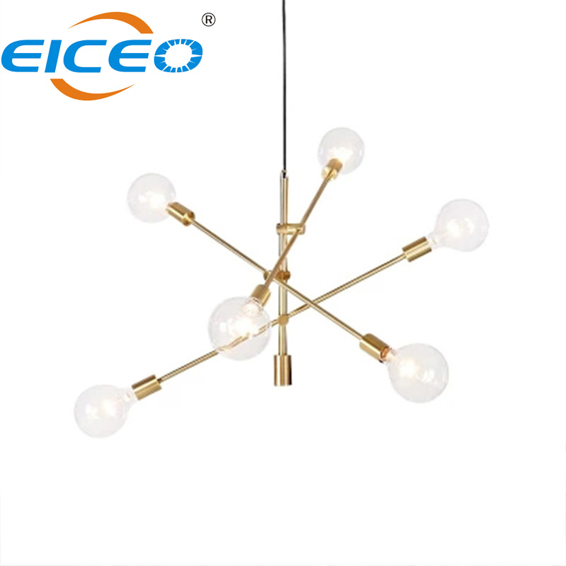2018 Hot Simple Led Pendant Lamp E27 golder Light One, Two, Four, Six, Ten Holder Metal Glass Gold Plated  Pendant Lighting2018 Hot Simple Led Pendant Lamp E27 golder Light One, Two, Four, Six, Ten Holder Metal Glass Gold Plated  Pendant Lighting