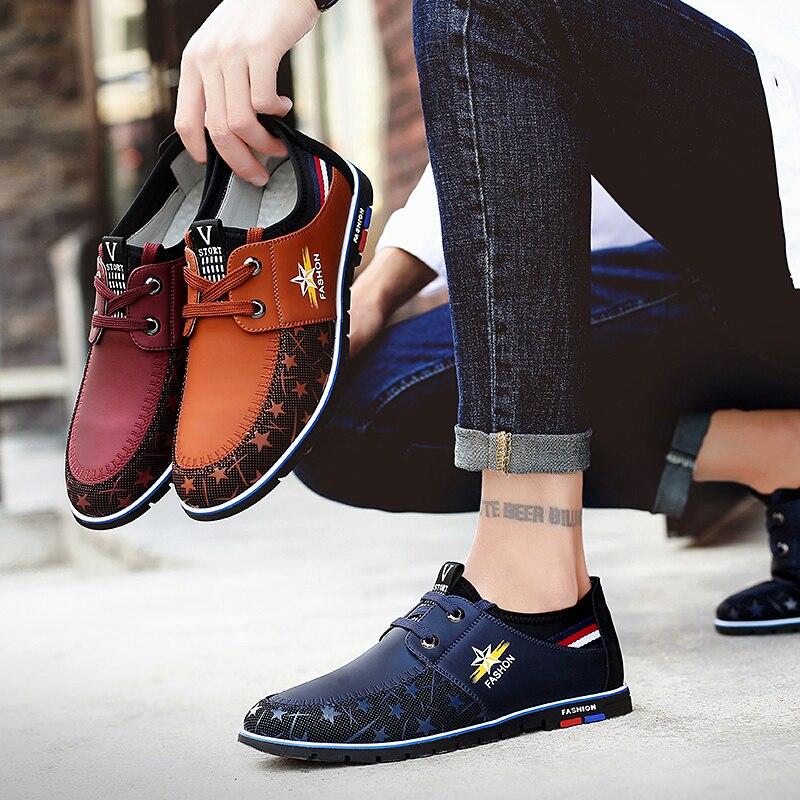 Sycatree 2019 nouvelle offre spéciale hommes chaussures décontractées hommes mode printemps été chaussures en cuir bottes pour homme sports de plein air baskets