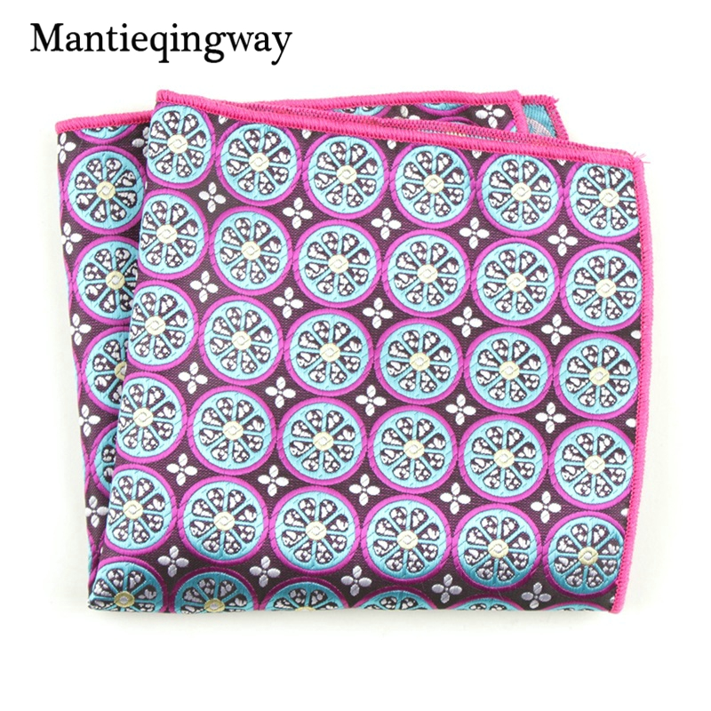 Mantieqingway New Designer Men's Handkerchief Polyester Chest Towel For Women Classic Pattern Pocket Squares Handkechiefs