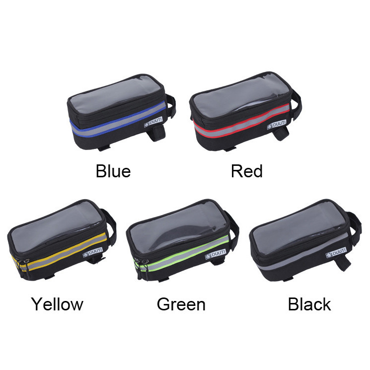 Waterproof/Reflective Bicycle Cycling Bike Bag Bicycle Accessories S3.5-4.8/L4.8-5.7'' Cell Phone Cases Touchable PVC Screens