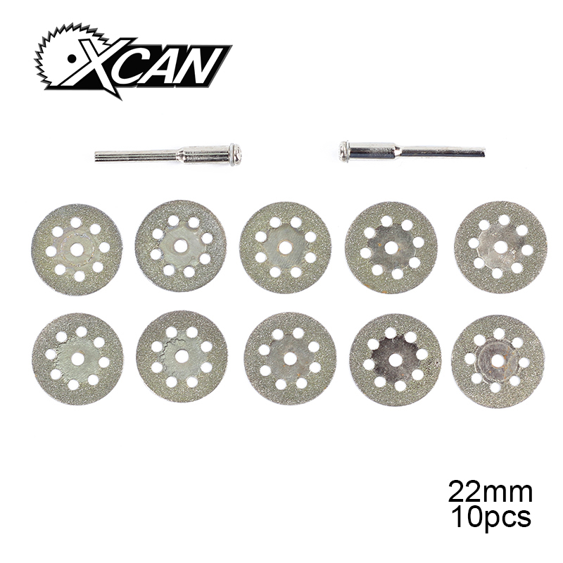 Free Shipping 10pc 22mm Dremel Diamond Cutting Disc For Dremel Rotary Tools Accessories With Mandrel 3.2mm